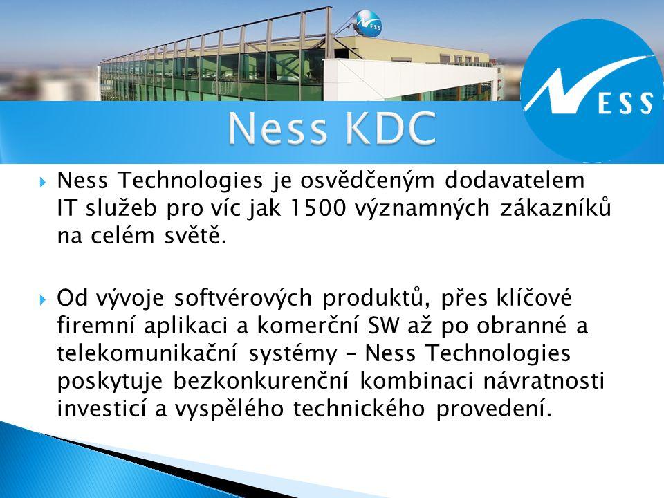  http://  Ness Technologies je osvědčeným dodavatelem IT služeb pro víc jak 1500 významných zákazníků na celém světě.