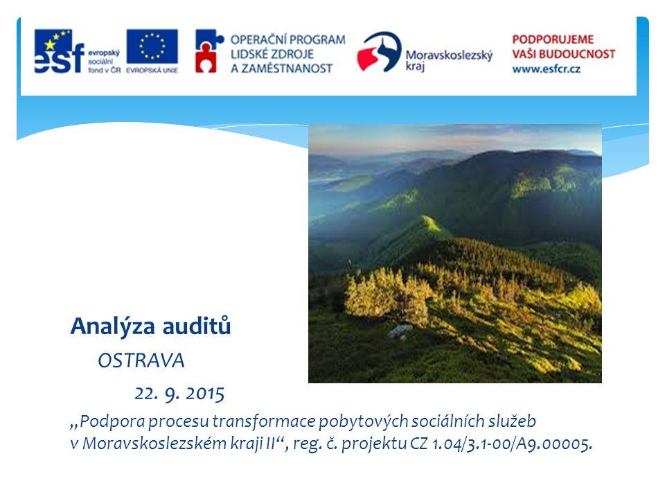 Analýza auditů OSTRAVA 22. 9.