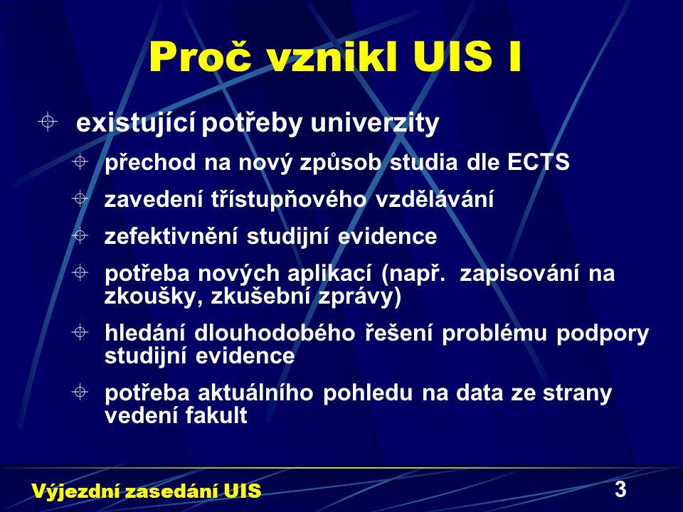 3 Proč vznikl UIS I  existující potřeby univerzity  přechod na nový způsob studia dle ECTS  zavedení třístupňového vzdělávání  zefektivnění studij