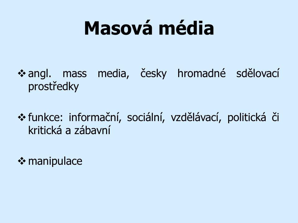Masová média  angl.