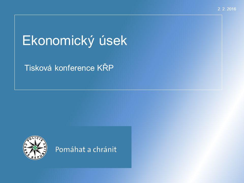 2. 2. 2016 Ekonomický úsek Tisková konference KŘP