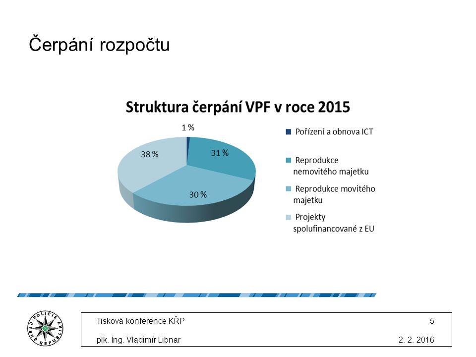 Čerpání rozpočtu 2. 2. 2016 Tisková konference KŘP plk. Ing. Vladimír Libnar 5