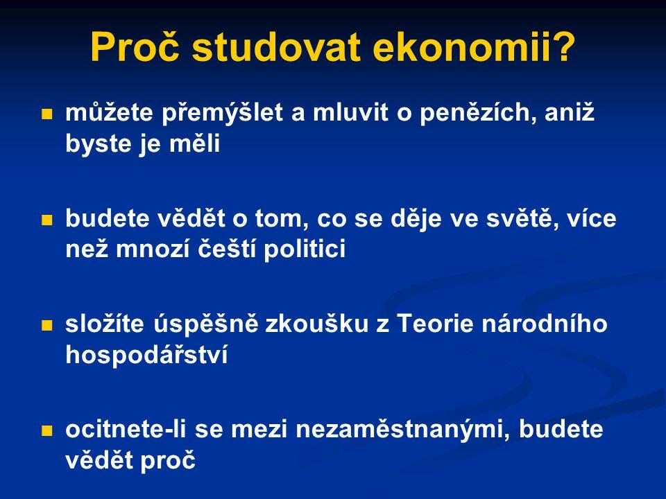 Vymezení národohospodářské teorie, základní ekonomické pojmy a principy