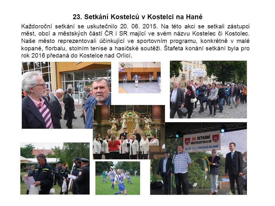 23. Setkání Kostelců v Kostelci na Hané Každoroční setkání se uskutečnilo 20.