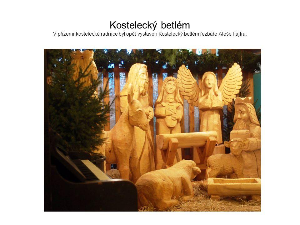 Kostelecký betlém V přízemí kostelecké radnice byl opět vystaven Kostelecký betlém řezbáře Aleše Fajfra.