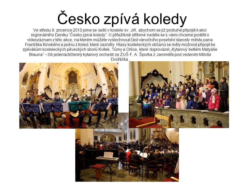 Česko zpívá koledy Ve středu 9. prosince 2015 jsme se sešli v kostele sv.
