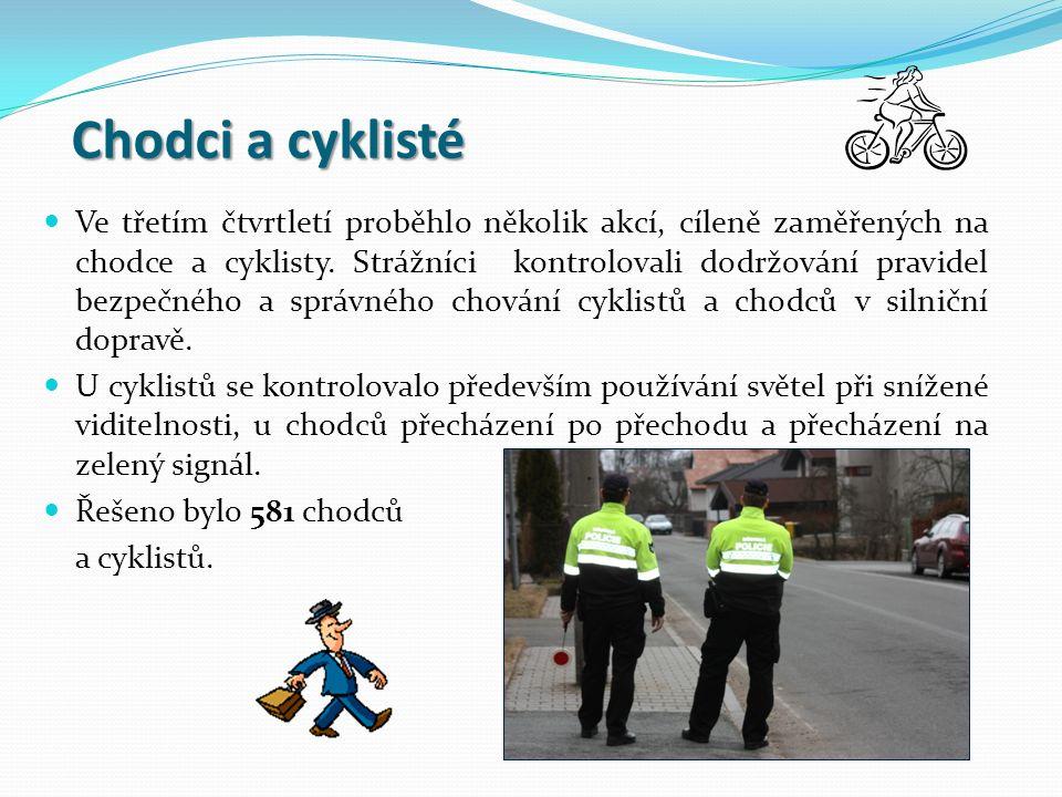 Chodci a cyklisté Ve třetím čtvrtletí proběhlo několik akcí, cíleně zaměřených na chodce a cyklisty.