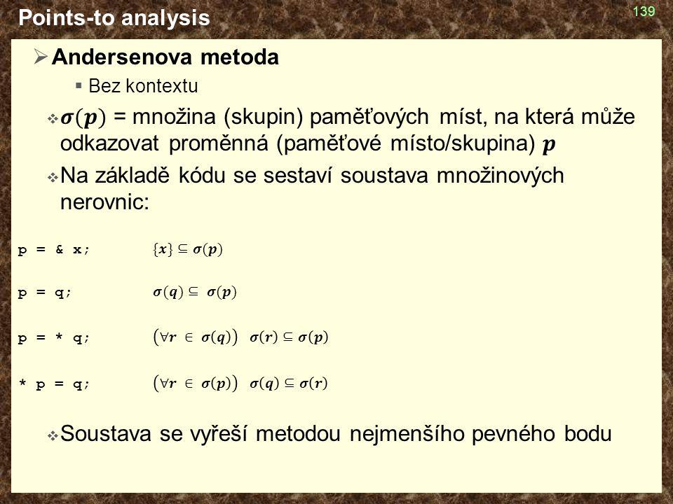 Points-to analysis 139