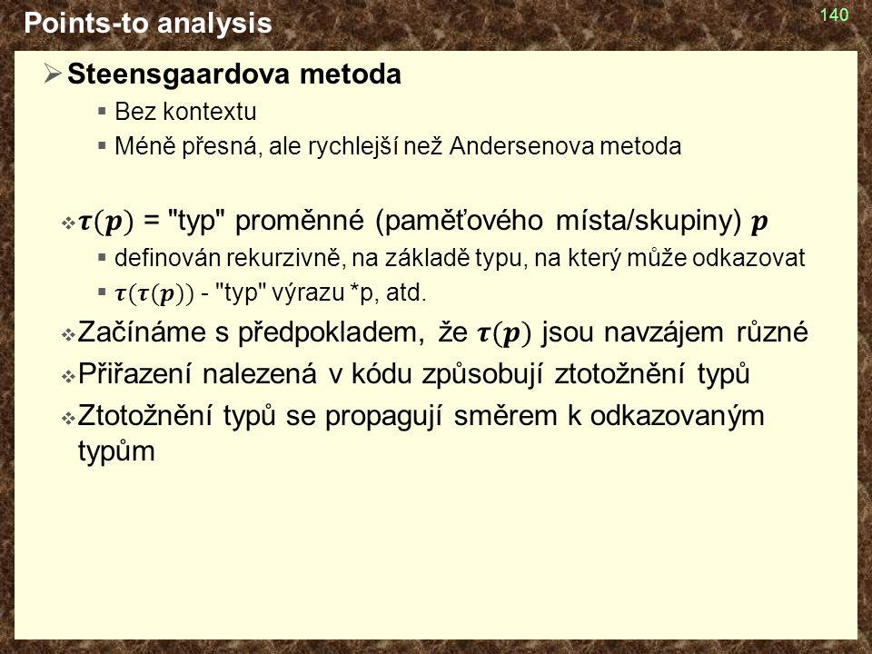 Points-to analysis 140