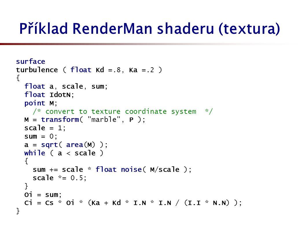 Další příklady shaderů (svět.