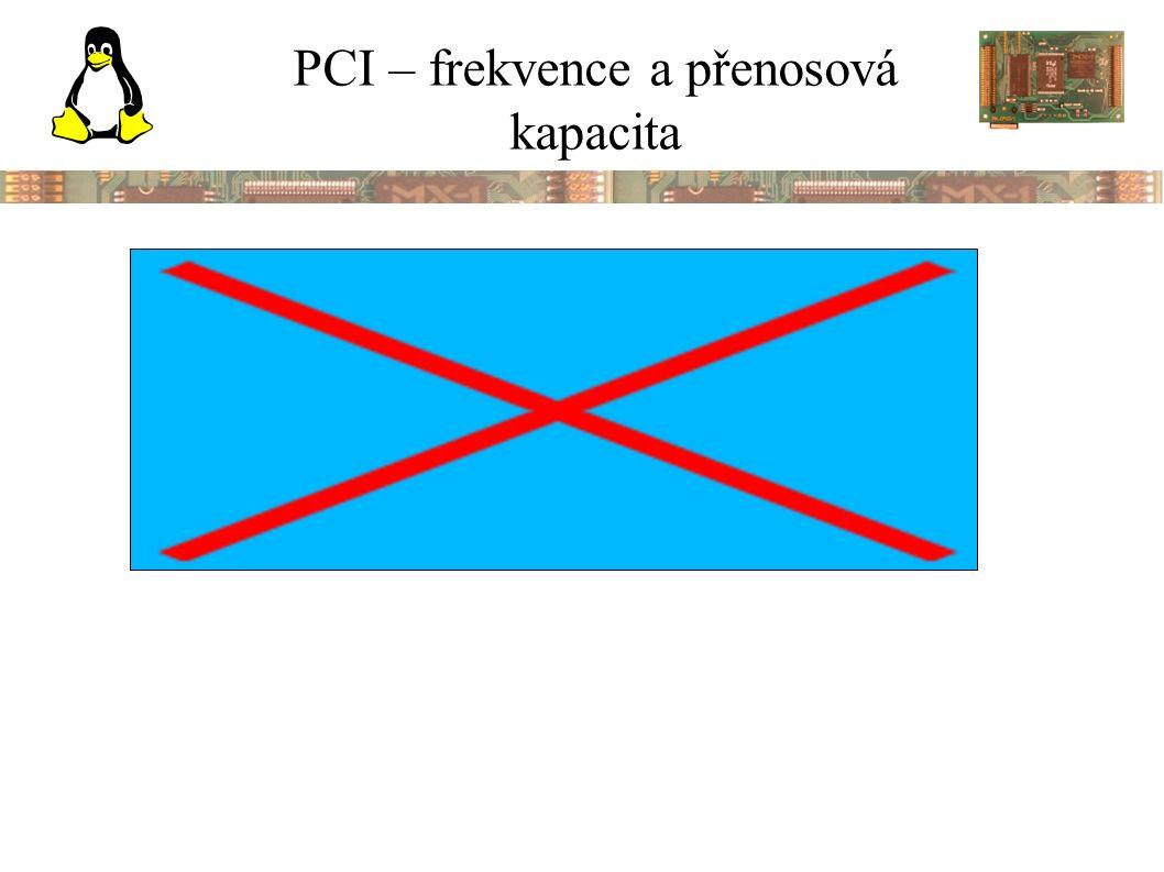 PCI – frekvence a přenosová kapacita