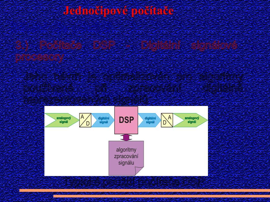 Hardware DSP počítačů je optimalizován na na řešení náročných algoritmů.