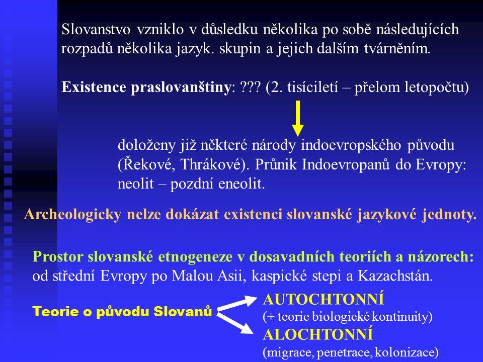 Slovanstvo vzniklo v důsledku několika po sobě následujících rozpadů několika jazyk.
