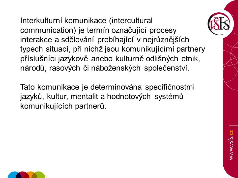 Interkulturní komunikace (intercultural communication) je termín označující procesy interakce a sdělování probíhající v nejrůznějších typech situací,
