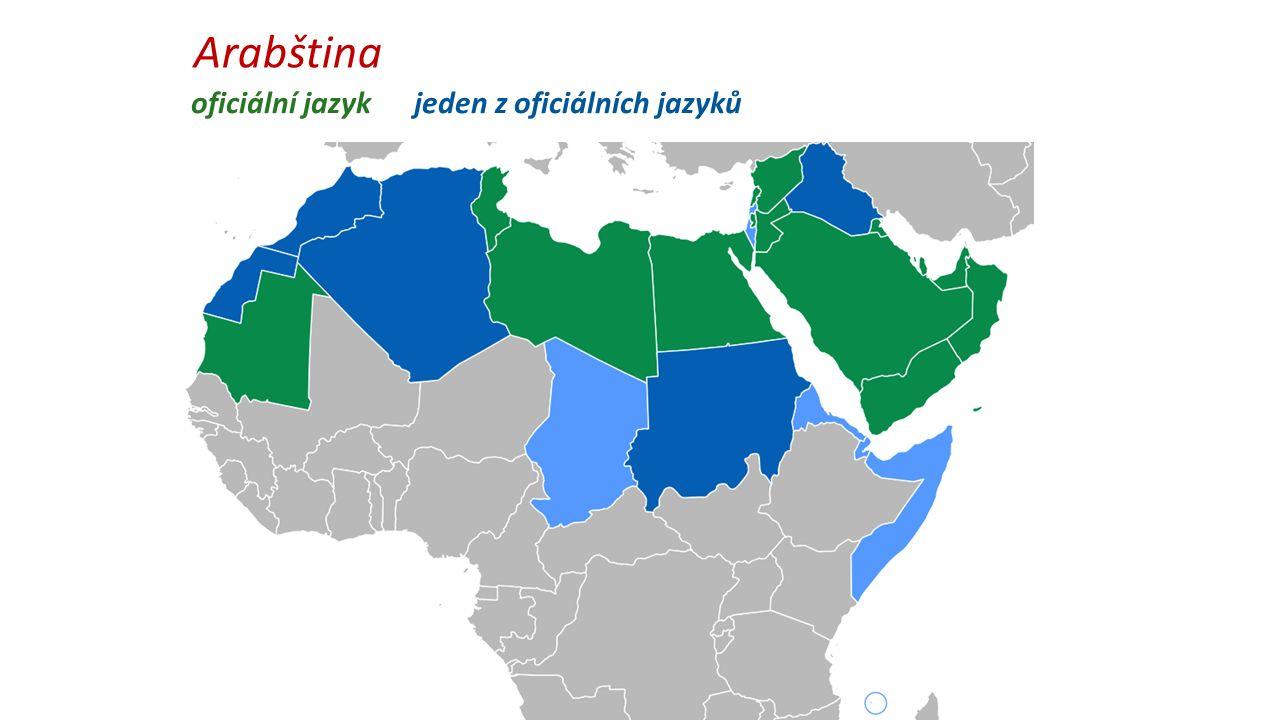 Arabština oficiální jazyk jeden z oficiálních jazyků