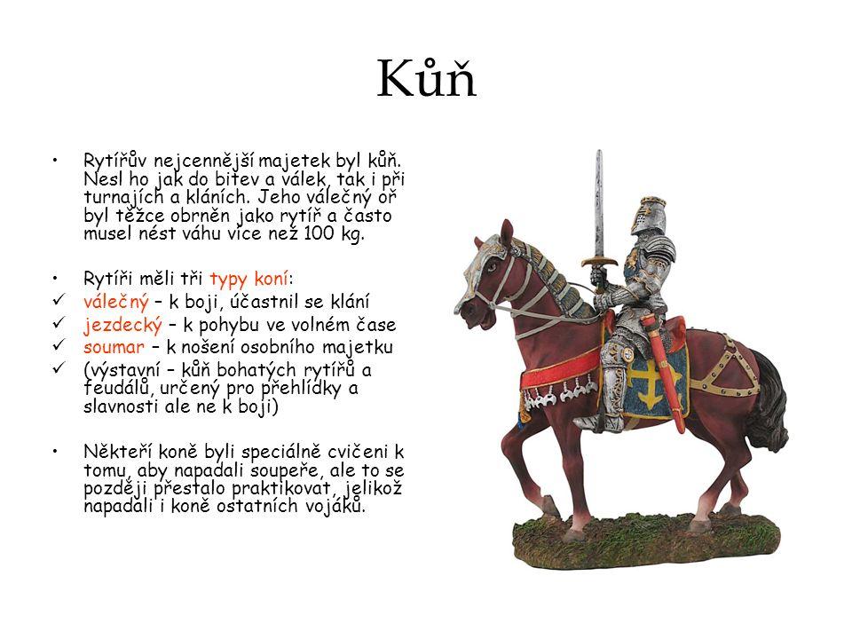 Kůň Rytířův nejcennější majetek byl kůň.