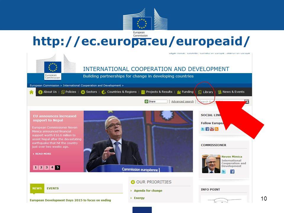 http://ec.europa.eu/europeaid/ 10