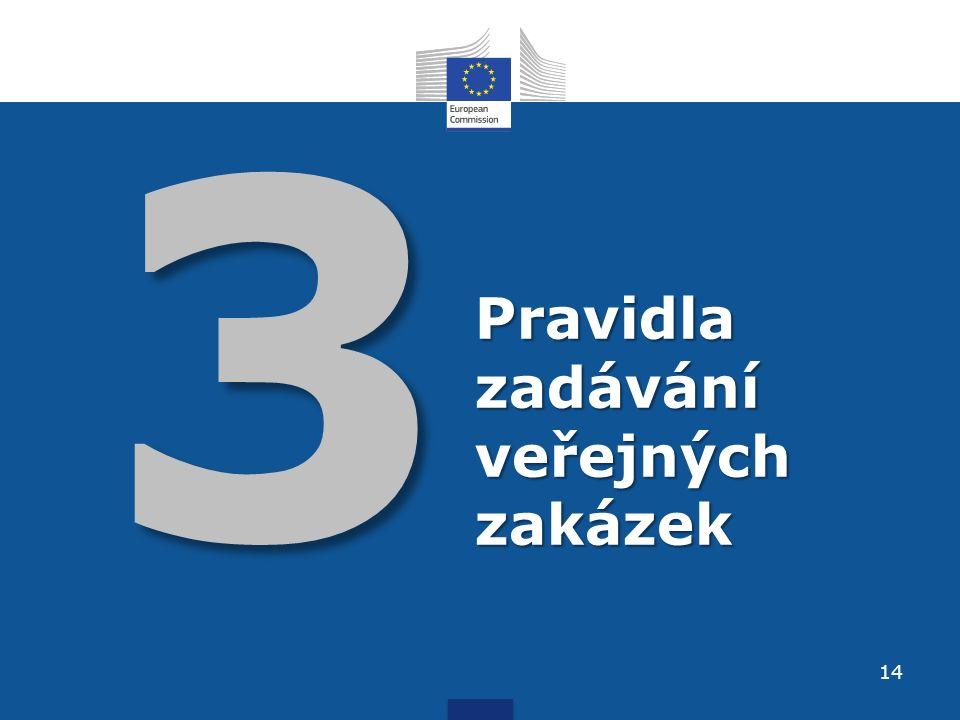 3 Pravidla zadávání veřejných zakázek 14