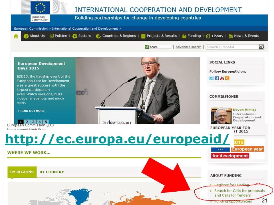 http://ec.europa.eu/europeaid/ 21