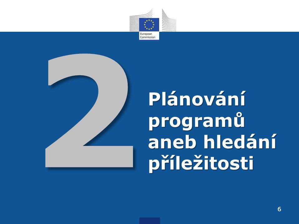 2 Plánování programů aneb hledání příležitosti 6