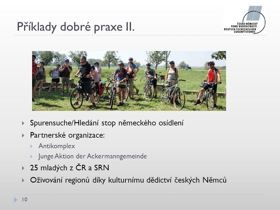 Příklady dobré praxe II.
