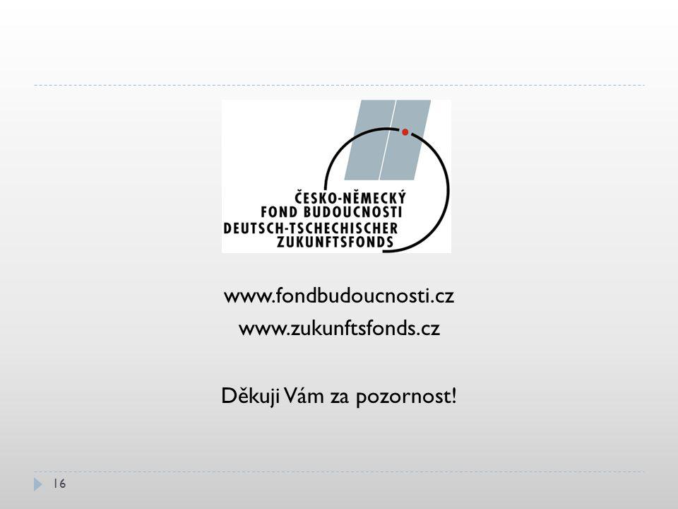 www.fondbudoucnosti.cz www.zukunftsfonds.cz Děkuji Vám za pozornost! 16