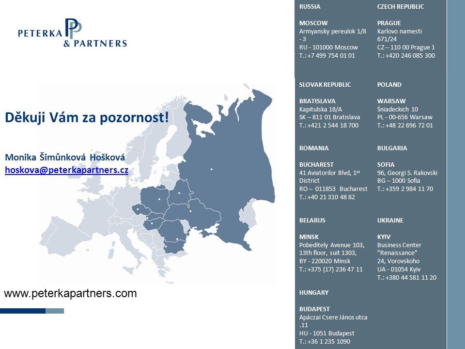 RUSSIA MOSCOW Armyansky pereulok 1/8 - 3 RU - 101000 Moscow T.: +7 499 754 01 01 CZECH REPUBLIC PRAGUE Karlovo namesti 671/24 CZ – 110 00 Prague 1 T.: