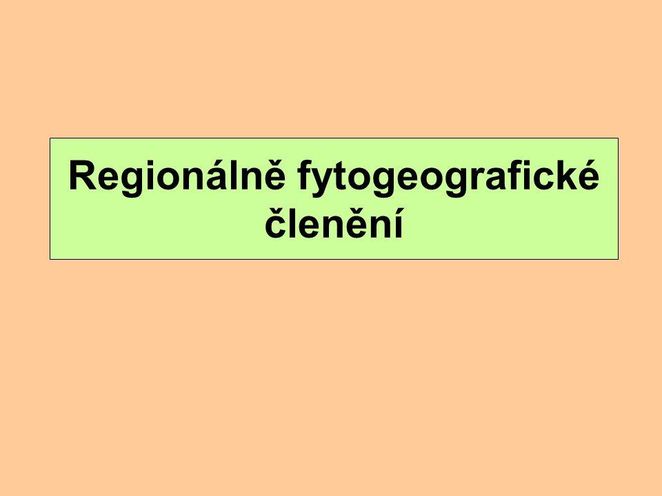 Regionálně fytogeografické členění