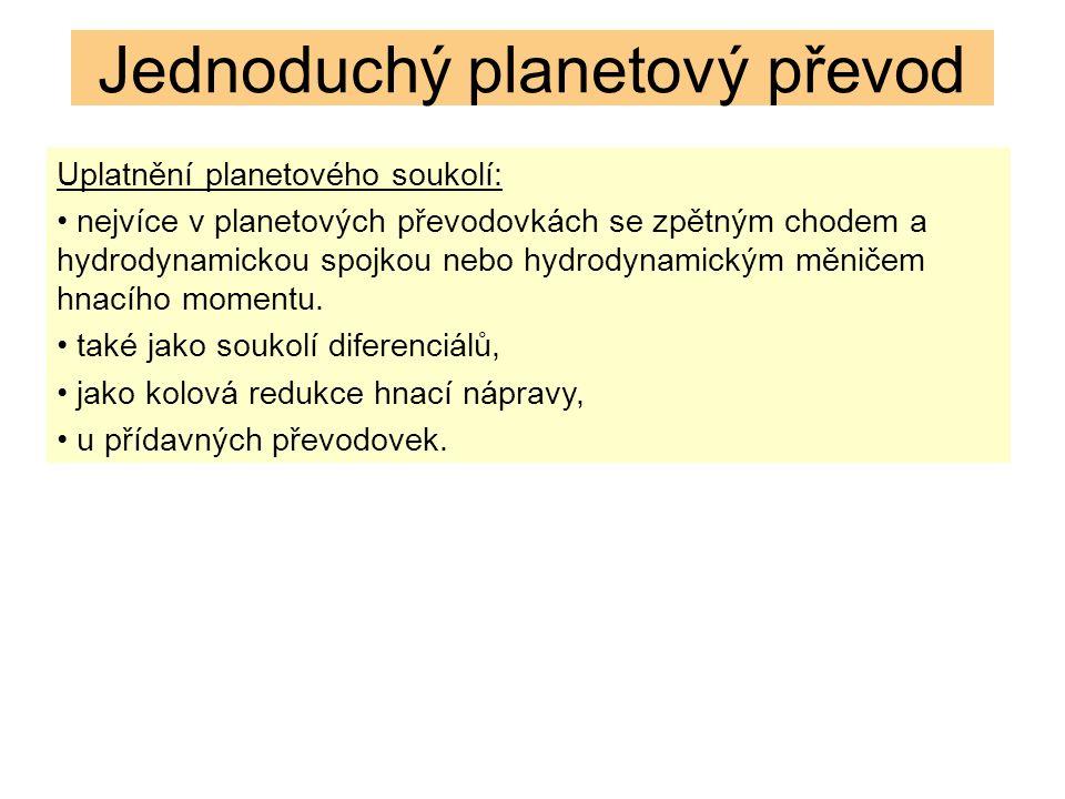 OPAKOVÁNÍ: 1.Z jakých prvků se skládá jednoduchý planetový převod.