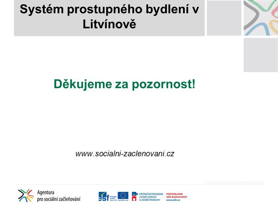 Děkujeme za pozornost! www.socialni-zaclenovani.cz Systém prostupného bydlení v Litvínově