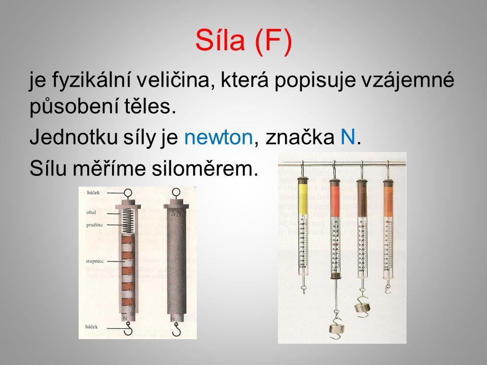 Síla (F) je fyzikální veličina, která popisuje vzájemné působení těles.
