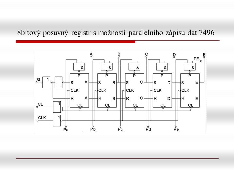 8bitový posuvný registr s možností paralelního zápisu dat 7496