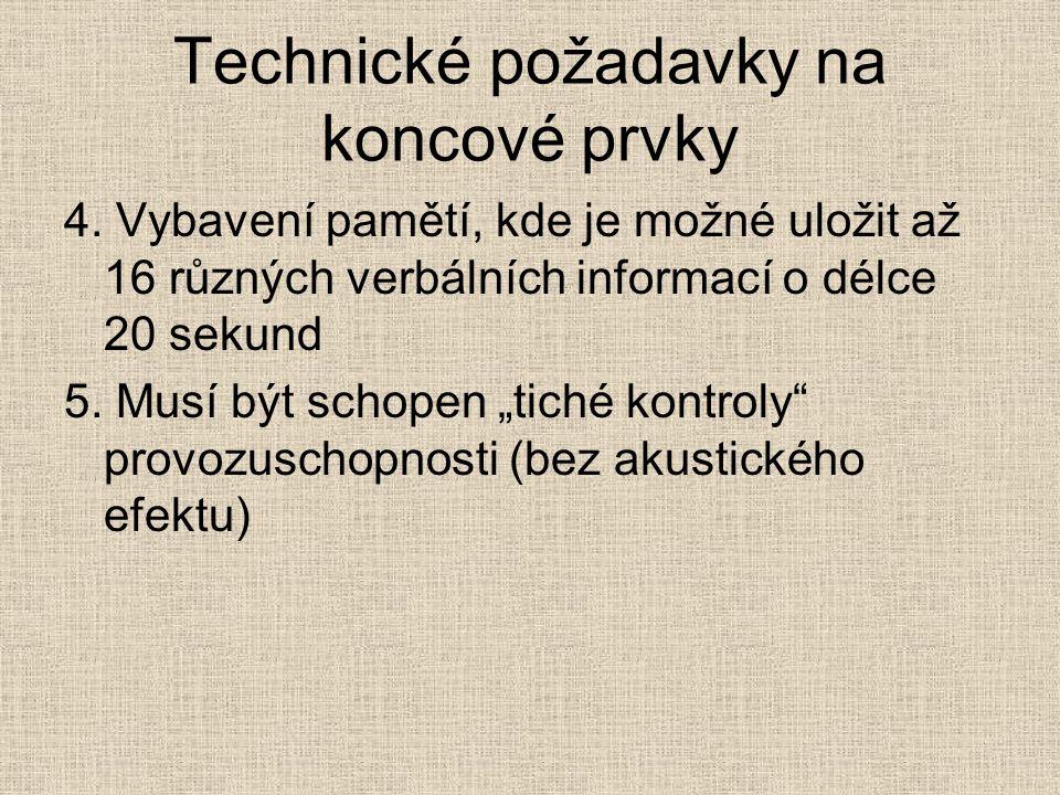 Technické požadavky na koncové prvky 4.