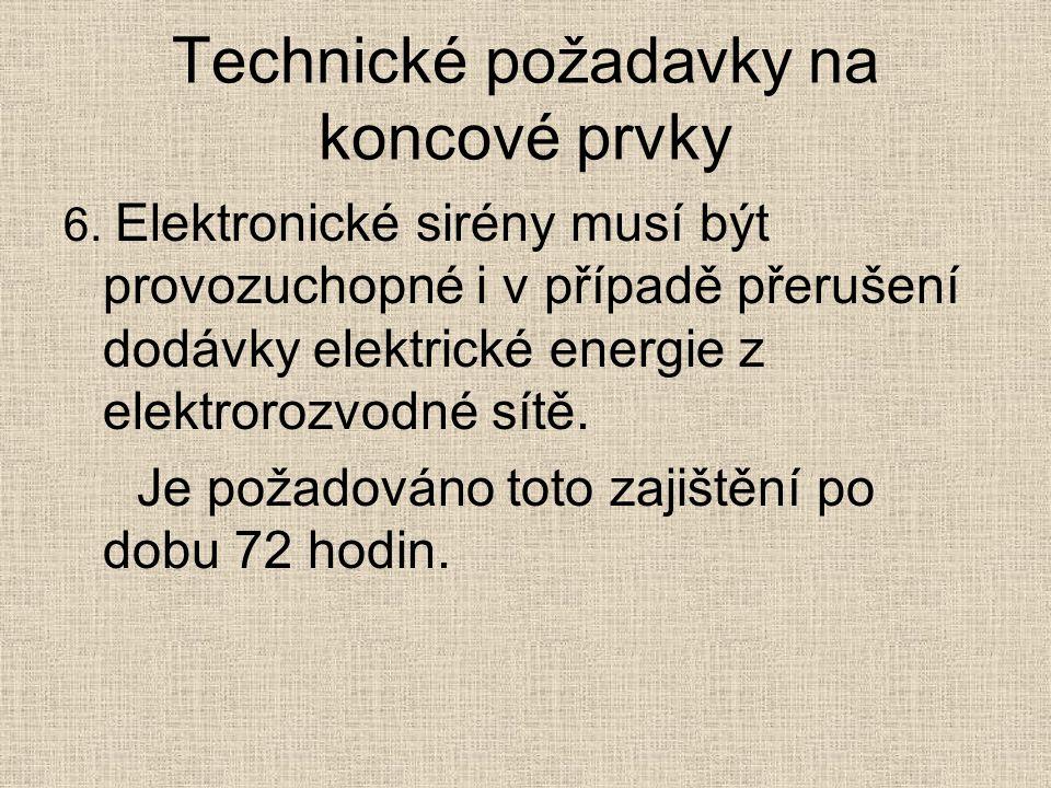 Technické požadavky na koncové prvky 6.