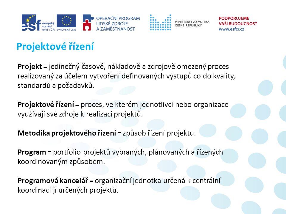 Cíle projektu KOZA: ▪ Zjednodušení procesu řízení a koordinace projektů MV ČR.