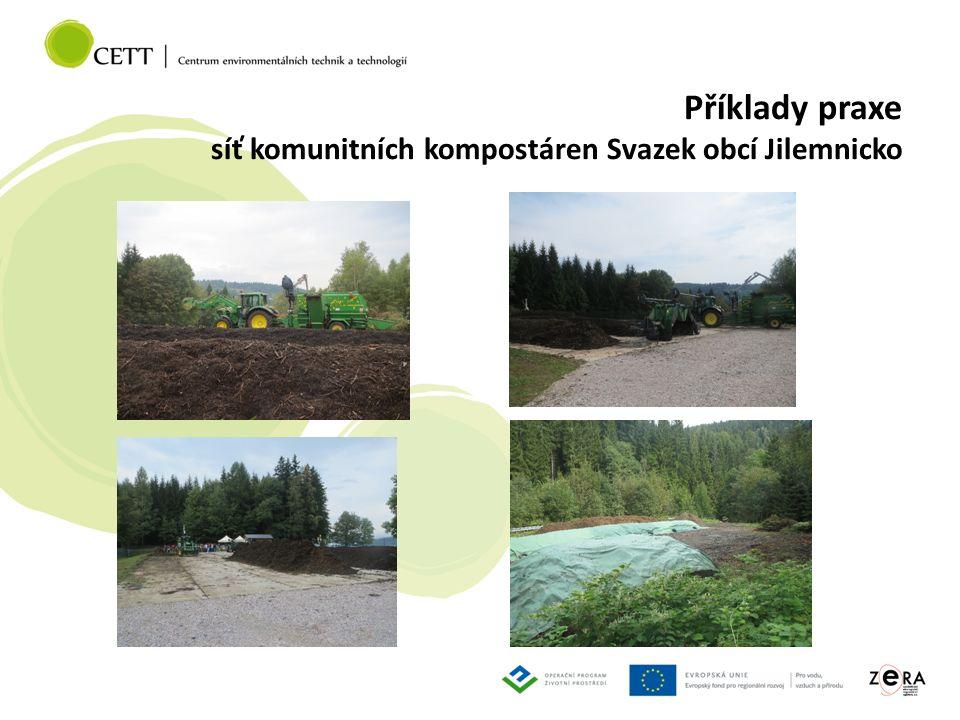 Příklady praxe síť komunitních kompostáren Svazek obcí Jilemnicko