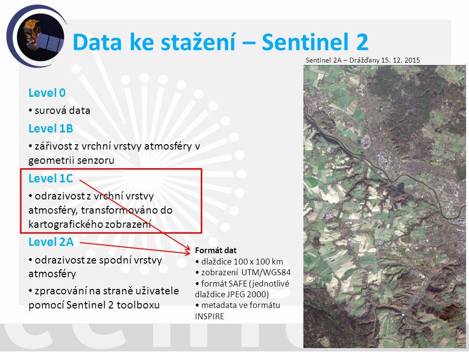 Sentinel 2A – Drážďany 15. 12.