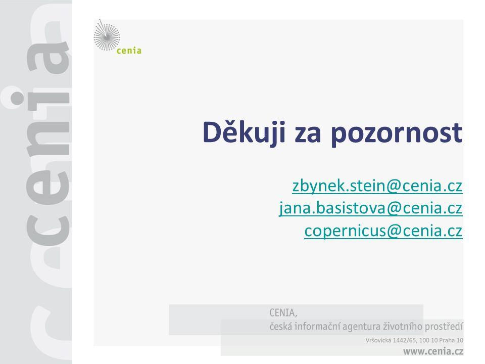 Děkuji za pozornost zbynek.stein@cenia.cz jana.basistova@cenia.cz copernicus@cenia.cz
