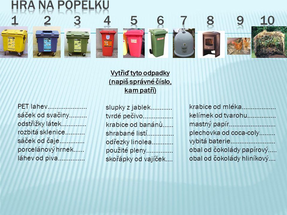 PET lahev…………………. sáček od svačiny………. odstřižky látek…………..