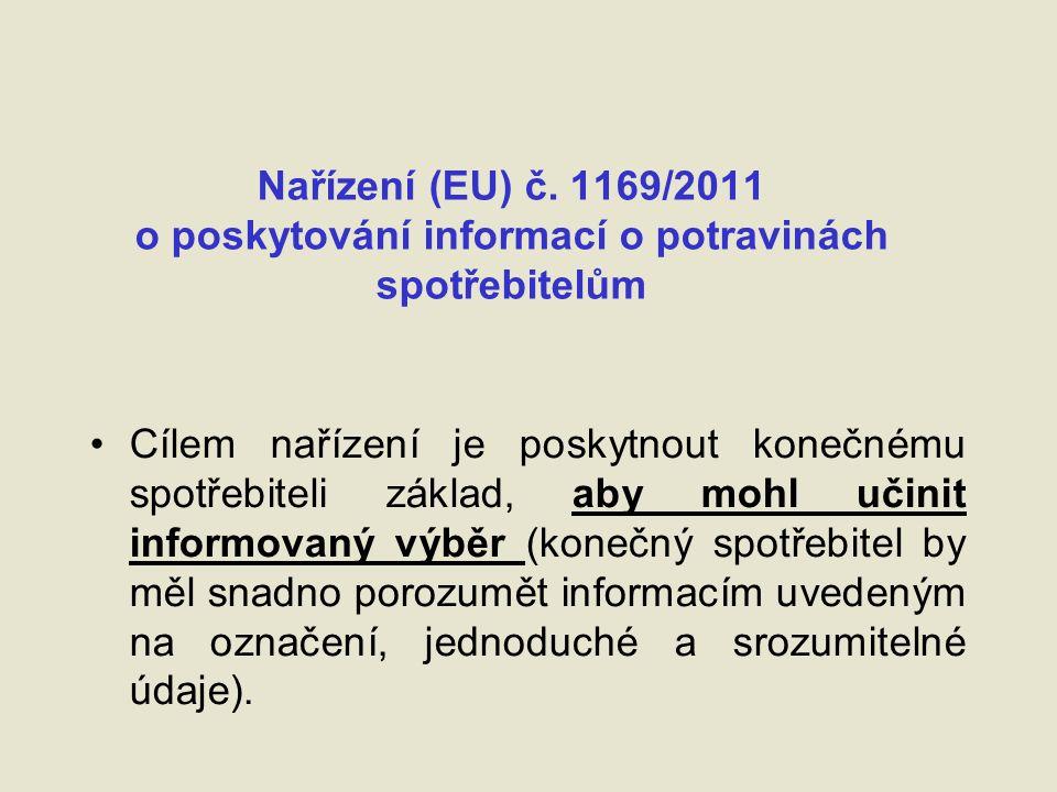 Stránky EK k označování potravin a výživě http://ec.europa.eu/food/food/labellingnutrition