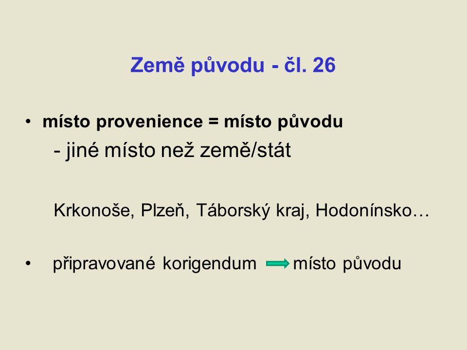 Země původu - čl.
