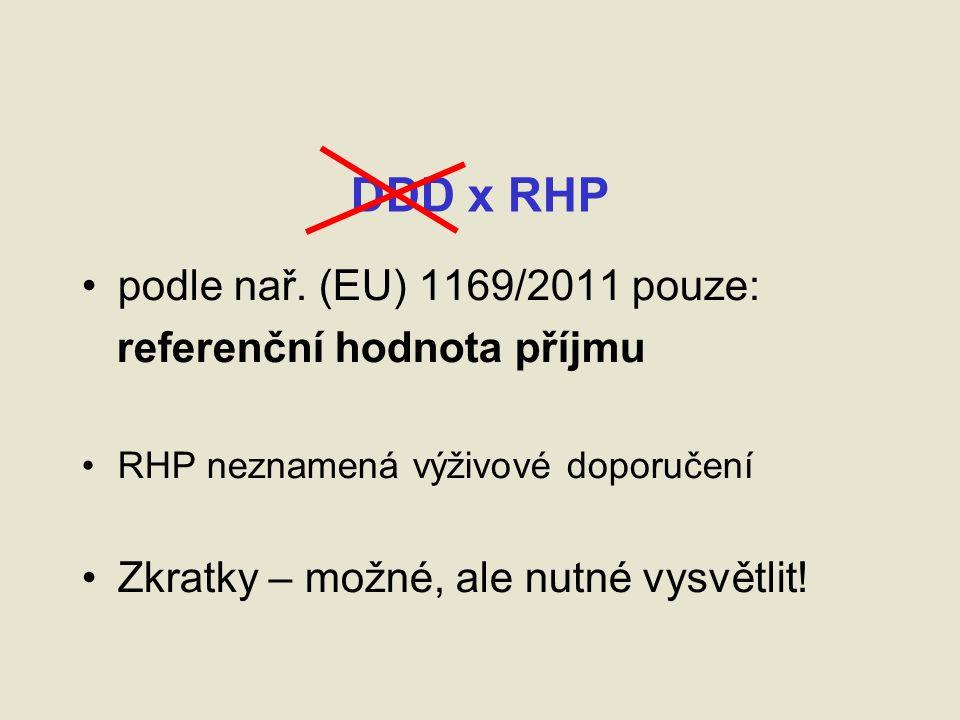 DDD x RHP podle nař.
