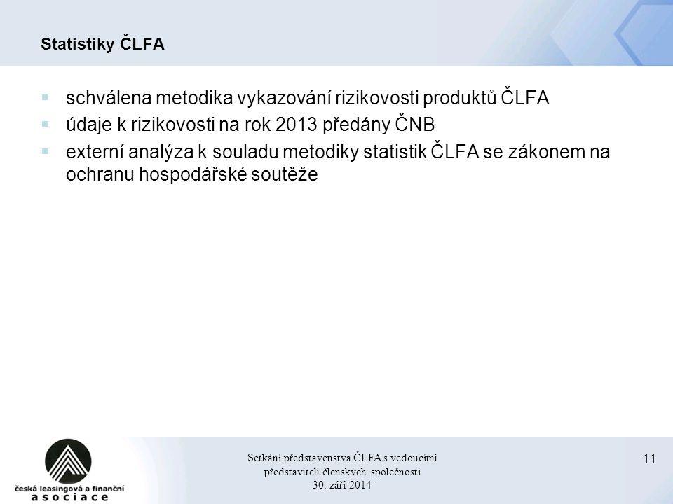11 Setkání představenstva ČLFA s vedoucími představiteli členských společností 30.