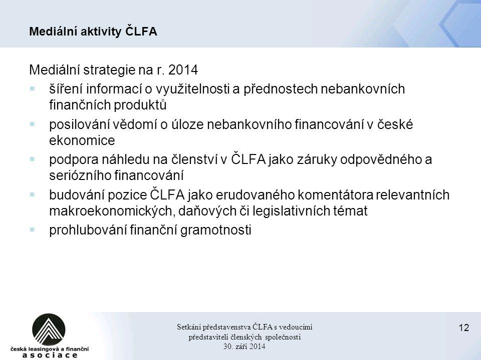 12 Setkání představenstva ČLFA s vedoucími představiteli členských společností 30.