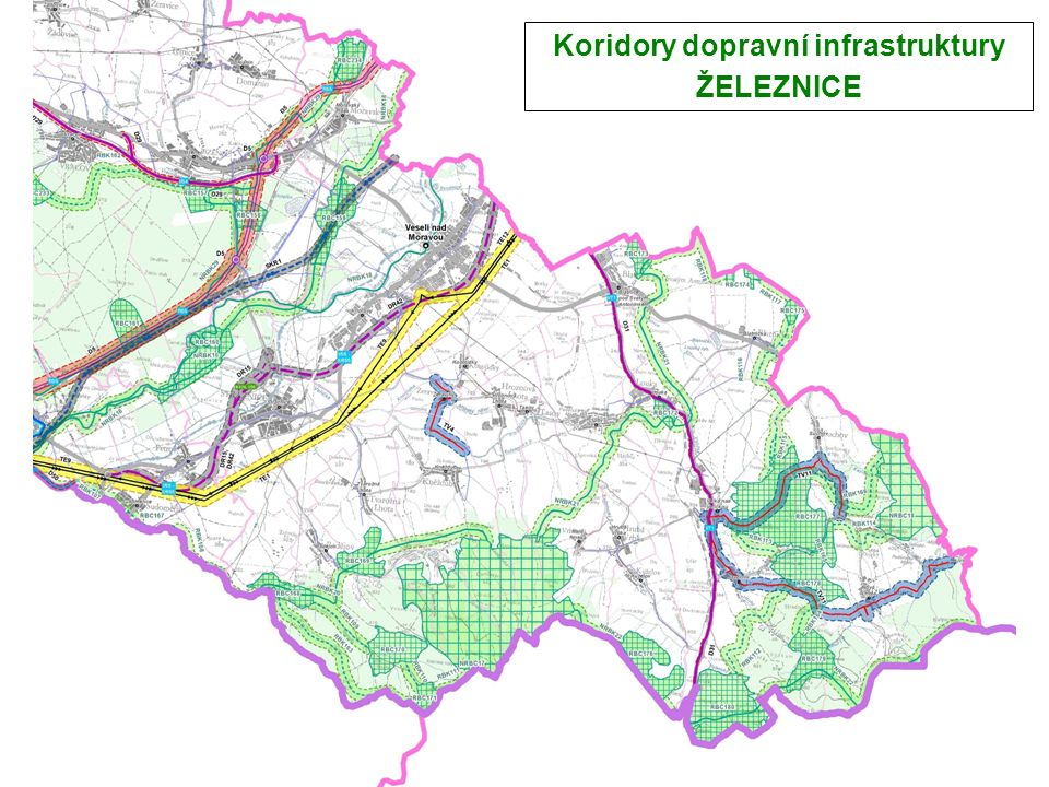 Koridory dopravní infrastruktury ŽELEZNICE