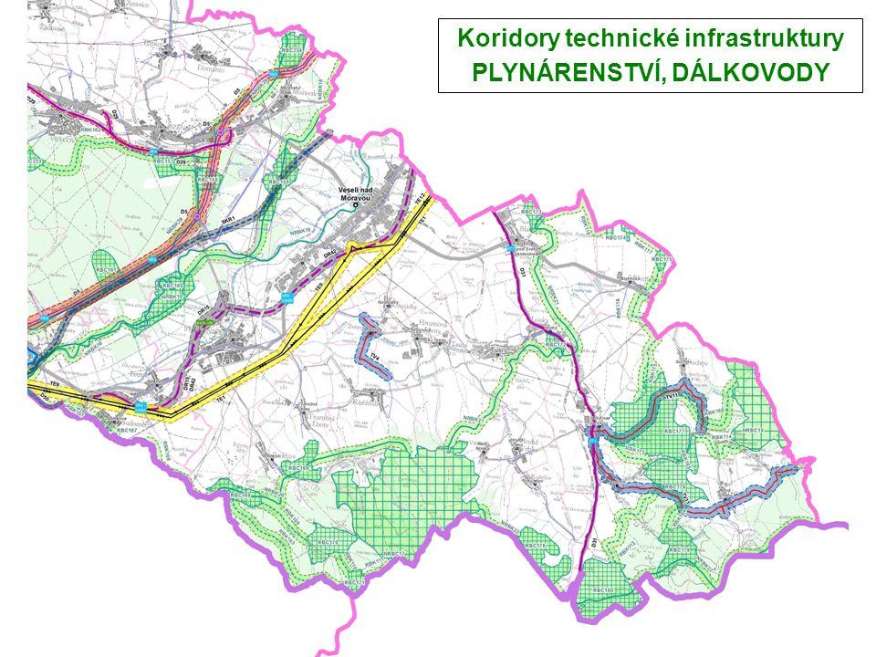 Koridory technické infrastruktury PLYNÁRENSTVÍ, DÁLKOVODY