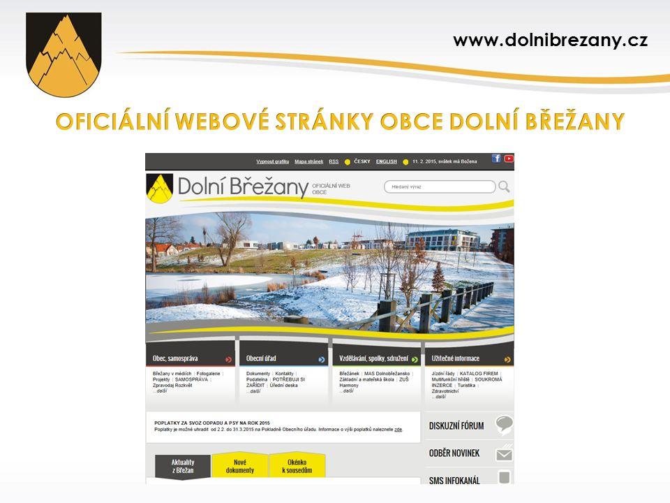 Nové stránky vytvořeny v rámci realizace projektu Moderní a efektivně řízená obec Dolní Břežany s reg.
