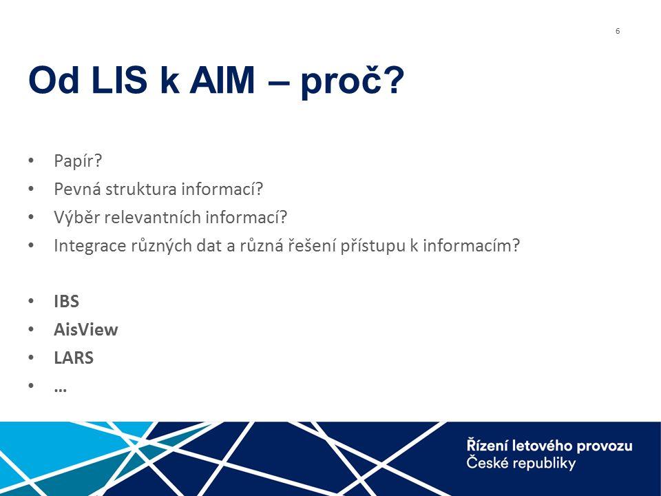 6 Od LIS k AIM – proč. Papír. Pevná struktura informací.
