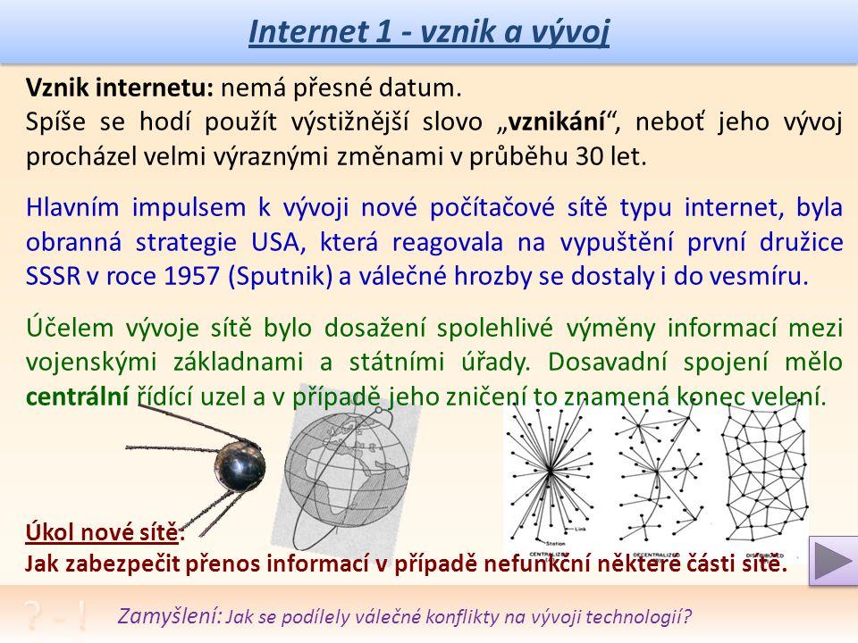 Projekt MŠMTEU peníze středním školám Název projektu školyICT do života školy Registrační číslo projektuCZ.1.07/1.5.00/34.0771 ŠablonaIII/2 Sada 33 AnotacePrincip a dělení sítí, jejich podstata, vlastnosti a použití Klíčová slovaPočítačové sítě, použití sítí, topologie, internet, intranet, vznik internetu PředmětInformační a komunikační technologie Autor, spoluautorIng.