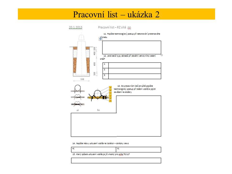 Pracovní list – ukázka 2